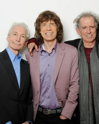 Rolling Stones, Mick Jagger, Keith Richards, Charlie Watts, Ron Wood - Obrázkek zdarma pro iPhone 4S