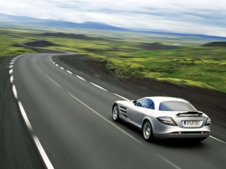 SLR Mclaren Mercedes Benz Background for Android, iPhone and iPad