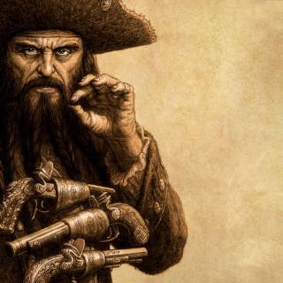 Captain Blackbeard - Obrázkek zdarma pro iPad 2