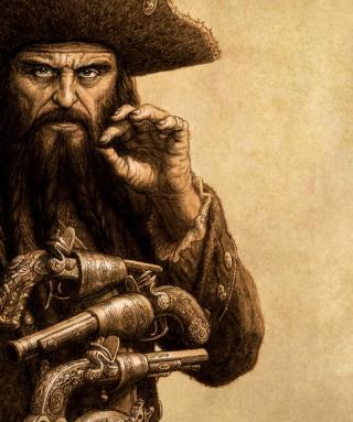 Captain Blackbeard - Obrázkek zdarma pro Nokia Asha 306