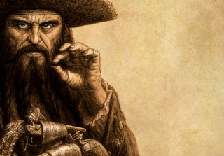 Captain Blackbeard - Obrázkek zdarma pro HTC Wildfire