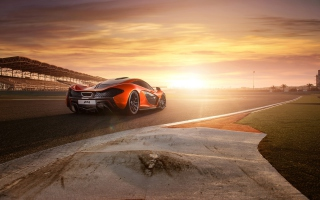 2013 Mclaren P1 At Bahrain Background for Android, iPhone and iPad