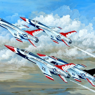 Republic F 105 Thunderchief Fighter Bomber - Obrázkek zdarma pro iPad 2