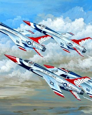 Republic F 105 Thunderchief Fighter Bomber - Obrázkek zdarma pro Nokia Asha 306