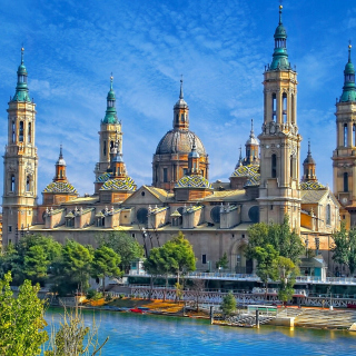 Basilica of Our Lady of the Pillar, Zaragoza, Spain - Obrázkek zdarma pro 320x320