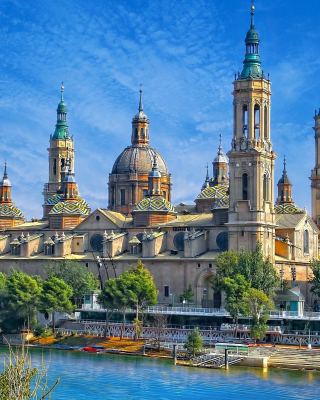 Basilica of Our Lady of the Pillar, Zaragoza, Spain - Obrázkek zdarma pro 240x432