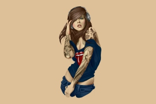 Free Rocker girl Picture for Android, iPhone and iPad