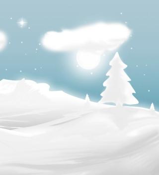 Winter Illustration - Obrázkek zdarma pro iPad mini