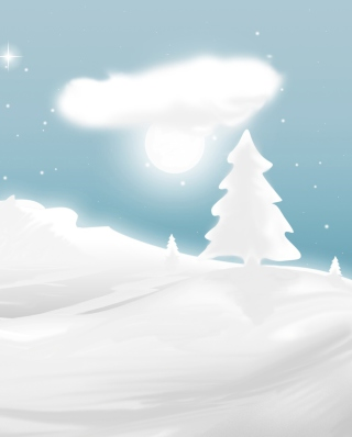 Winter Illustration - Obrázkek zdarma pro iPhone 5C