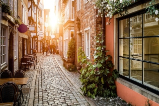 Old Street In Europe Wallpaper for Android, iPhone and iPad