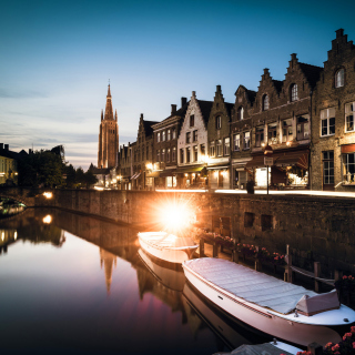 Belgium, West Flanders, Bruges - Obrázkek zdarma pro iPad 2