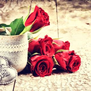 Valentines Day Roses - Obrázkek zdarma pro 208x208