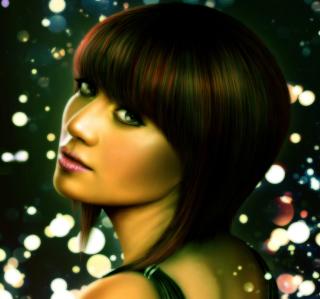 Lady Face - Obrázkek zdarma pro 208x208