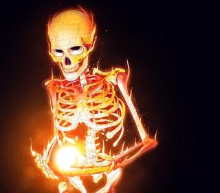 Skeleton On Fire - Obrázkek zdarma pro 1024x1024