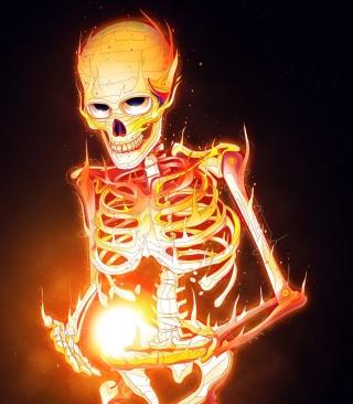 Skeleton On Fire - Obrázkek zdarma pro Nokia Asha 202