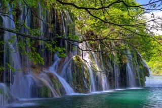 Waterfalls in National park Plitvice Wallpaper for Android, iPhone and iPad