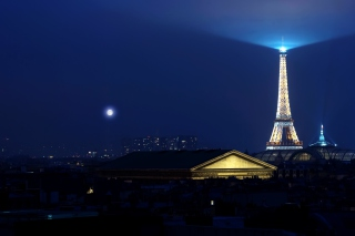 Paris Night sfondi gratuiti per Nokia Asha 302