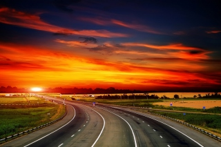 Sunset Highway Wallpaper for Android, iPhone and iPad