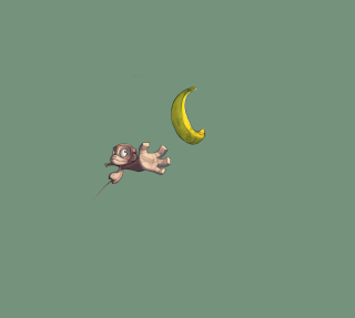 Monkey Wants Banana - Obrázkek zdarma pro 208x208
