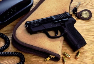 Pistol And Bullets Picture for Android, iPhone and iPad