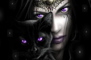 Witch With Black Cat - Fondos de pantalla gratis para Samsung S5367 Galaxy Y TV