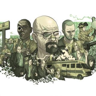 Breaking Bad Illustration - Obrázkek zdarma pro 1024x1024