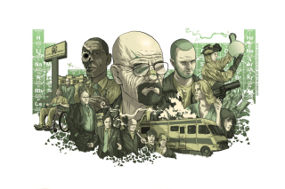 Breaking Bad Illustration - Obrázkek zdarma pro Widescreen Desktop PC 1440x900