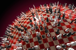 Chess Game Board Wallpaper for Android, iPhone and iPad
