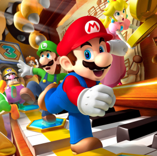 Mario Party - Super Mario - Obrázkek zdarma pro iPad Air