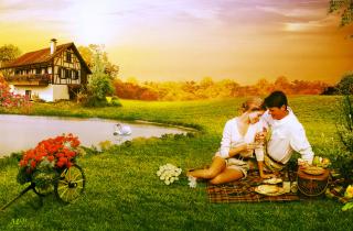Love Art Couples - Obrázkek zdarma pro 1024x600