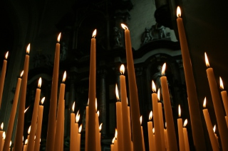Burning Candles Picture for Android, iPhone and iPad