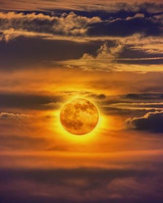 Golden Moon - Obrázkek zdarma pro Nokia X2