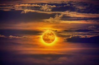 Free Golden Moon Picture for Android, iPhone and iPad