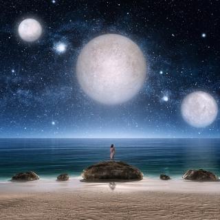 Fantasy Night Scene - Obrázkek zdarma pro iPad Air