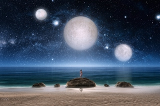 Fantasy Night Scene - Obrázkek zdarma pro Samsung Galaxy A5