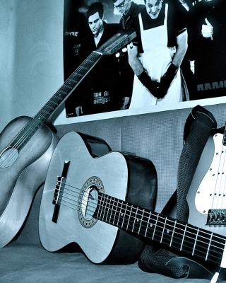 Rammstein guitars for metal music - Obrázkek zdarma pro Nokia Asha 202