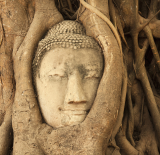 Wooden Buddha In Thailand - Obrázkek zdarma pro iPad mini
