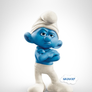 Grouchy Smurf - Obrázkek zdarma pro 128x128