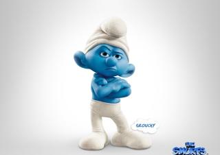 Grouchy Smurf - Obrázkek zdarma pro Nokia Asha 205