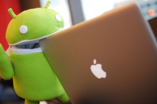 Funny Android Toy Background for Android, iPhone and iPad