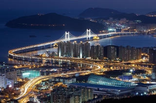 Beautiful Night Cityscape - Obrázkek zdarma pro 1400x1050