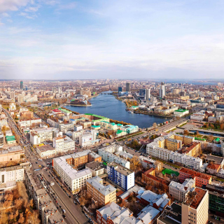 Yekaterinburg Panorama - Obrázkek zdarma pro iPad Air