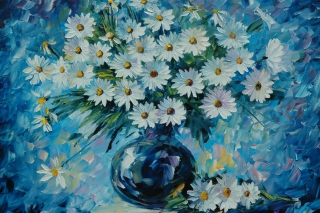 Daisy Bouquet Painting Background for Android, iPhone and iPad