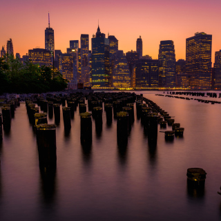 New York City Downtown - Obrázkek zdarma pro 1024x1024