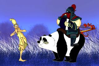 Mulan Cartoon - Obrázkek zdarma pro 1600x900
