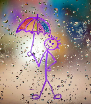 Happy Rain - Obrázkek zdarma pro Nokia Lumia 822