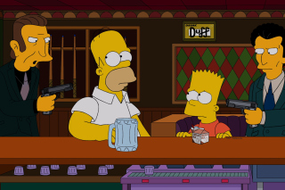 The Simpsons in Bar - Obrázkek zdarma