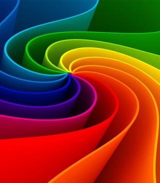 Swirling Rainbow - Obrázkek zdarma pro Nokia Asha 300