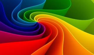 Swirling Rainbow - Obrázkek zdarma pro 220x176