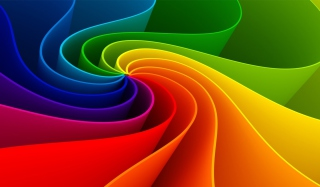 Swirling Rainbow - Obrázkek zdarma pro Desktop Netbook 1366x768 HD